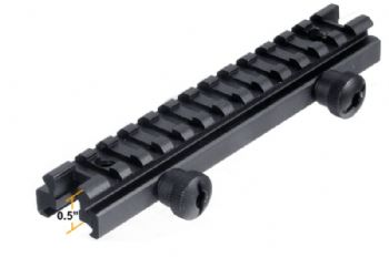 "Leapers UTG 0.5"" high 13-Slot Low Full Size Riser Mount Weaver Picatinny Base MNT-RS05L"